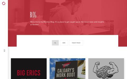 Screenshot of Blog revolve.ca - Blog | Revolve Branding & Marketing | Halifax, NS, Canada - captured June 18, 2019