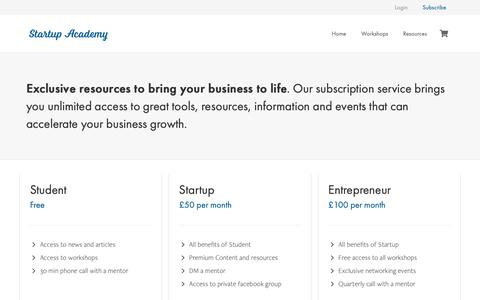 Screenshot of Signup Page startupacademy.org.uk - Sign up – Startup Academy - captured Oct. 20, 2018