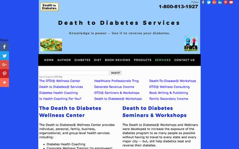 Screenshot of Services Page deathtodiabetes.com - Death to Diabetes Services That Help Reverse Type 2 Diabetes - captured Oct. 12, 2017