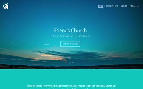 Screenshot of Home Page friendschurch.ca - Friends Church - Friends Church - captured Aug. 4, 2016