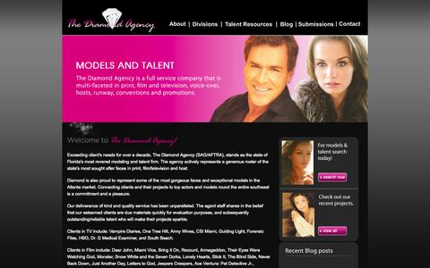 Screenshot of Home Page thediamondagency.com - Orlando Talent Agency | Florida Modeling Agency | Models In Orlando | Top Models Orlando | Atlanta Talent Agency - captured Jan. 30, 2015