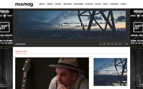 Screenshot of Press Page mixmag.net - News - Mixmag - captured Dec. 3, 2015