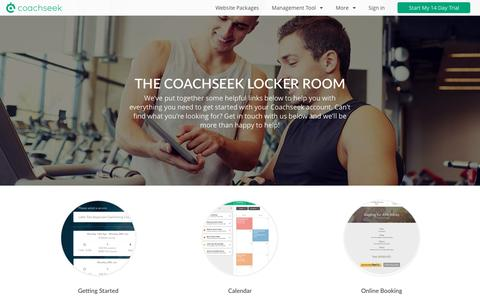 Screenshot of Support Page coachseek.com - Need some help? - Coachseek Support - captured July 14, 2016