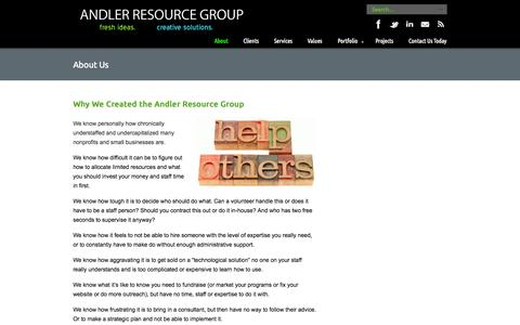Screenshot of About Page andler.org - About Us «  Andler Resource Group - captured Oct. 4, 2014