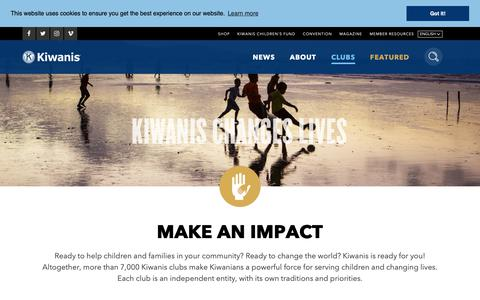 Screenshot of Signup Page kiwanis.org - Join - captured Oct. 15, 2018