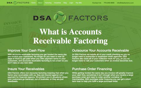 Screenshot of About Page dsafactors.com - Family Owned A/R Factoring Since 1964 - DSA Factors - captured Sept. 8, 2019
