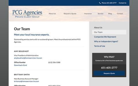 Screenshot of Team Page pcgagencies.com - Our Team - Saint Paul, MN | PCG Agencies - captured Sept. 25, 2018