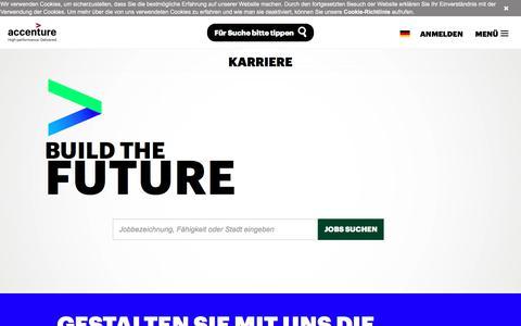Screenshot of Jobs Page accenture.com - Karriere bei Accenture in Deutschland - captured Oct. 27, 2017