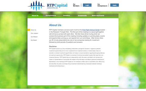 Screenshot of About Page rtpcapital.org - About Us - captured Oct. 7, 2014