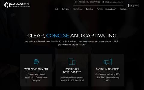 Screenshot of Home Page narmadatech.com - Narmadatech | Web Design Development Company - captured June 11, 2017