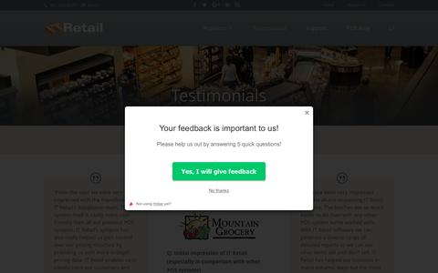 Screenshot of Testimonials Page itretail.com - Point of Sale Testimonials | Grocery POS | IT Retail - captured Aug. 5, 2016