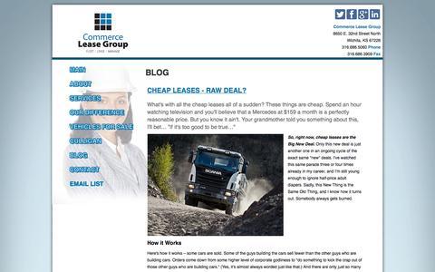 Screenshot of Blog commerceleasegroup.com - Blog - captured Sept. 30, 2014