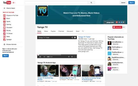 Screenshot of YouTube Page youtube.com - Yamgo TV  - YouTube - captured Oct. 27, 2014