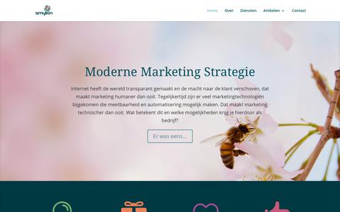 Screenshot of Home Page amylion.nl - Moderne marketing strategie - Amylion - captured July 29, 2018