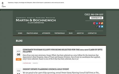 Screenshot of Blog mbtrustlaw.com - Lawyer Palm Desert   Lawyer Palm Springs   Lawyer San Diego   BLOG - captured Oct. 3, 2014