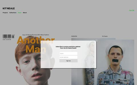 Screenshot of Press Page kitneale.com - Press — KITNEALE.COM | Designer RTW | Mens & Womens Contemporary-luxury Clothing - captured June 9, 2017