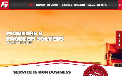 Screenshot of Home Page groch.com - Canadian Freight Specialists, cross border, Canadian freight broker - captured Oct. 1, 2014