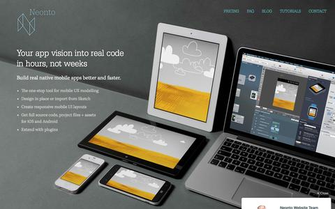 Neonto Studio - Create native prototypes visually for Android and iOS