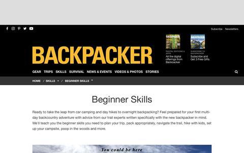 Backpacking Skills for Beginners | Backpacking 101 - Backpacker - Backpacker