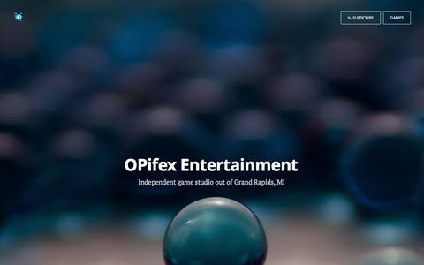 Screenshot of Home Page teamopifex.com - OPifex Entertainment - captured Jan. 29, 2015