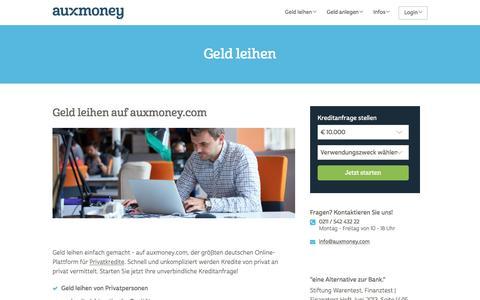 Geld leihen: sofort & seriös | ganz einfach mit AUXMONEY.com
