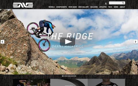 Screenshot of Home Page enve.com captured Oct. 3, 2014