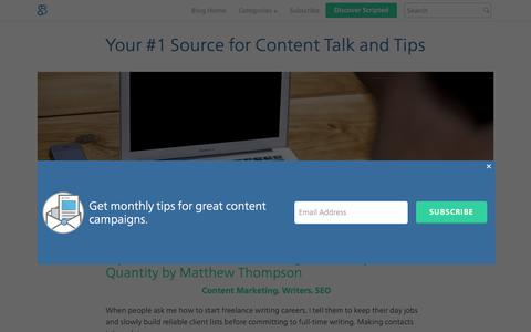 Blog For Content Marketers and Content Writers | Scripted