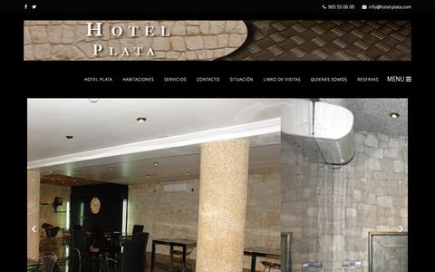 Screenshot of Home Page hotel-plata.com - Hotel Plata - captured April 7, 2016