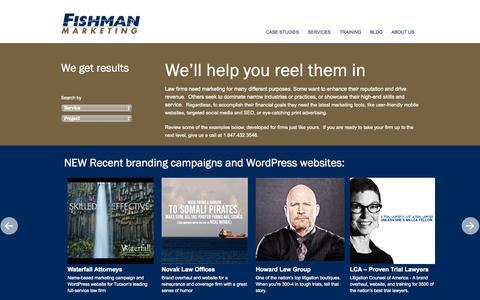 Screenshot of Case Studies Page fishmanmarketing.com - Results   Fishman Marketing. - captured Oct. 2, 2015