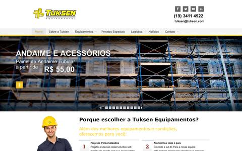 Screenshot of Home Page tuksen.com - Tuksen - Venda de Container Desmontável para Canteiro de Obra - captured Oct. 2, 2014