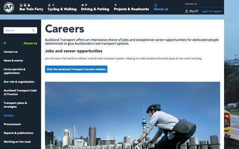 Screenshot of Jobs Page at.govt.nz - Careers - captured Sept. 23, 2014