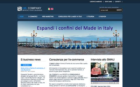 Screenshot of Home Page lmlcompany.it - Consulenza e-commerce - captured Sept. 26, 2014