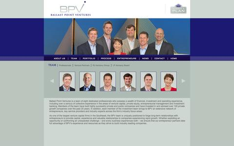 Screenshot of Team Page ballastpointventures.com - Ballast Point Ventures | Growth Capital for the Southeast | Our Team | - captured Sept. 30, 2014