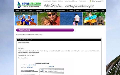 Screenshot of Testimonials Page heartattached.com - Heart Attached | Testimonials - Read about us - captured Oct. 2, 2014