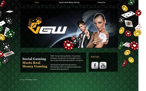 Screenshot of Home Page virtualgamingworlds.com - virtualgamingworlds - captured Sept. 12, 2014