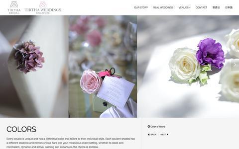 Screenshot of Home Page tirthabridal.com - Best Destination Wedding Location | Mystical Bali | Tirtha Bridal | More Than a Wedding - captured Oct. 1, 2014