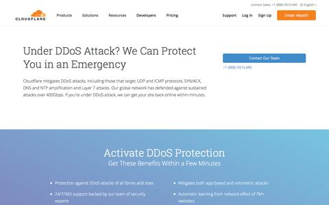 Under DDoS Attack? We Can Protect You | Cloudflare