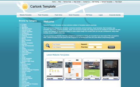 Screenshot of Home Page cartonk.com - Cartonk Template - Professional Website Templates - captured Jan. 20, 2016