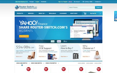 Screenshot of Home Page router-switch.com - Cisco Router, Cisco Switch, New Used Cisco Prices Comparison - captured Sept. 23, 2014
