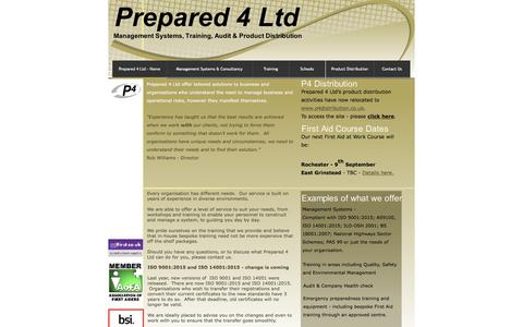 Screenshot of Home Page prepared-4.co.uk - Prepared 4 Ltd - Home - captured Aug. 16, 2017