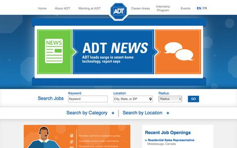 Screenshot of Trial Page adt.com - Deliver Extraordinary Customer Service - captured Nov. 14, 2016
