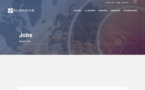 Screenshot of Jobs Page almadius.com - Jobs   Almadius - captured May 28, 2017