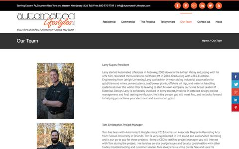 Screenshot of Team Page automated-lifestyles.com - CEDIA, THX, HAA, and ISF Certified Professionals | Automated Lifestyles - captured Nov. 21, 2016
