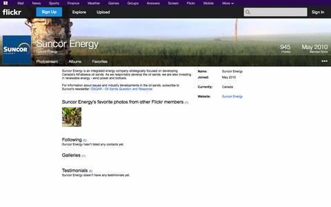 Screenshot of Flickr Page flickr.com - Flickr: Suncor Energy - captured Oct. 26, 2014