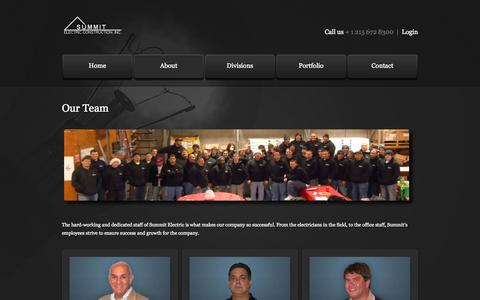 Screenshot of Team Page summitelect.com - Summit Electric's Team - captured Oct. 7, 2014