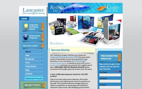 Screenshot of Case Studies Page lancasteradvertising.com - Success Stories | Lancaster Advertising & MarketingLancaster Advertising & Marketing - captured Oct. 1, 2014