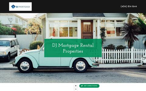 Screenshot of Home Page djmortgage.net - DJ Mortgage - captured Aug. 5, 2018