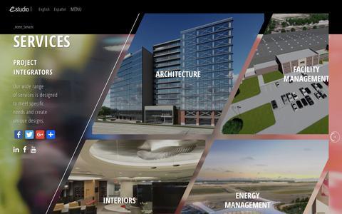 Screenshot of Services Page estudioarchitecture.com - Services   EStudio - captured Sept. 29, 2018