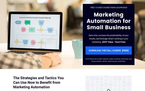 Screenshot of Landing Page leadpages.net - [Download] Marketing Automation Course - captured Oct. 13, 2016