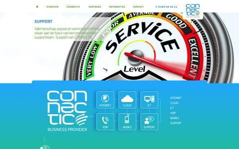 Screenshot of Support Page connectic.nl - Support | Connectic business provider - captured Oct. 3, 2014